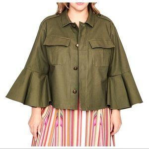 Rachel Rachel Roy Ruffle Sleeve Utility Jacket